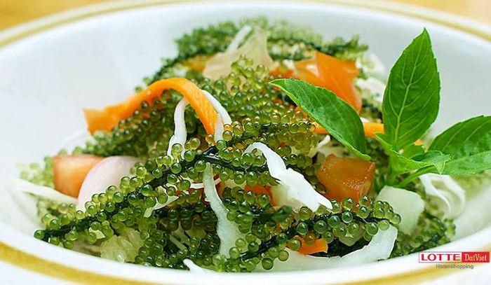 Cách làm salad rong nho kiểu Nhật