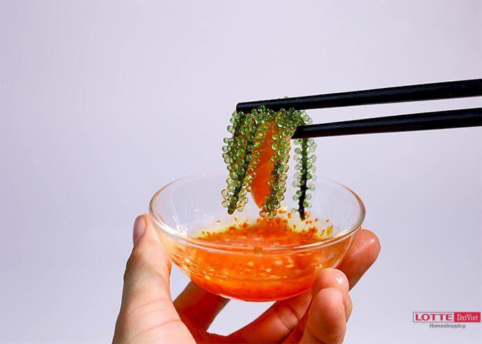 Rong nho ăn với nước chấm gì?