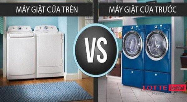 Máy giặt cửa trên và máy giặt cửa trước